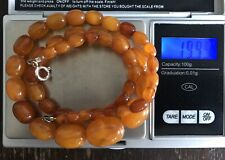 BERNSTEIN!!! Kette mit Silberverschluss, Butterscotch, Oliven, Amber 19,99g