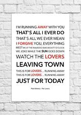 Pete Doherty - For Lovers - Song Lyric Art Poster - A4 Size