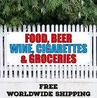 Banner Vinyl FOOD BEER WINE CIGARETTES GROCERIES Advertising Sign Flag Bar Cafe