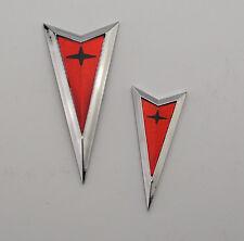 2004-2005-2006 Pontiac GTO Front & Rear Arrow Emblem Trunk Lid 04-06 Chrome