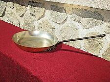 grande poêle épaisse-2 mm-en cuivre alimentaire étamée-issue d'un restaurant