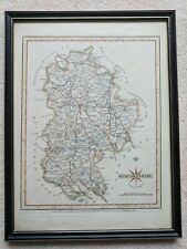 More details for bedfordshire county antique map framed coloured cary 1787