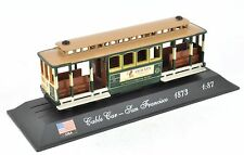 "1/87 Tram Street Car Cable Car ""San Francisco 1873"" - Del Prado Tram & Bus Colle"