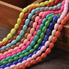 New Arrival 30pcs 9X7mm Teardrop Shape Loose Spacer Glass Beads Mixed Color