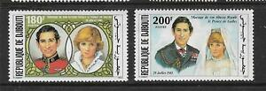 1981 set of 2 Royal Wedding - Prince Charles and Diana Spencer Complete MUH