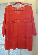 GEORGE Pretty Ladies Orange Cut Out Thin Sweater-Top Size 20-VGC