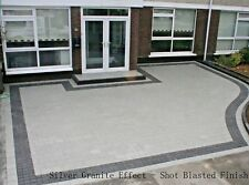 Block Paving, Contemporary Granite Effect, Shot Blasted, Silver 50mm, 8m2 Pack