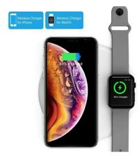 COSOOS 2 in 1 Wireless Charger For Apple Watch & Phones. 2w Watch. 5-12w Phones