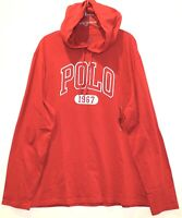 Polo Ralph Lauren Mens Size S Red Polo 1967 Hoodie L/S Cotton T-Shirt NWT Size S