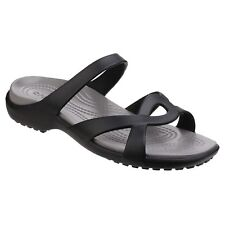 Crocs Meleen Twist Sandal Black/smoke Women Shoes Casuals Sandals Flats 9