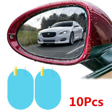 10pc Car Anti Water Mist Film Anti Fog Rainproof Rearview Mirror Protective Film