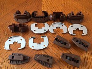 5 x Kenlin Rite-Trak II Drawer Guide 168, Stop w Roller, Metal, with USPS #