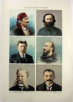The White Races of Europe: An Original 1902 Dated Stone Chromo-Lithograph