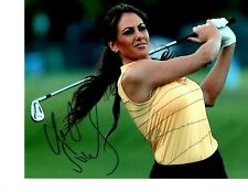 GOLF REPORTER HOLLY SONDERS SIGNED YELLOW TANK TOP 8X10
