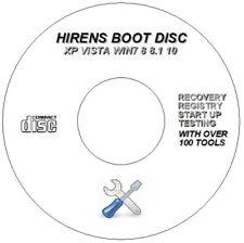 HIREN'S PC BOOT DISC REPAIR RECOVERY CD FOR WINDOWS 7 8 8.1 10 FIX BLUE SCREEN