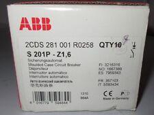 ABB CIRCUIT BREAKER S201P-Z16 - ABB S201P-Z16 S201 16A 1 POLE 10 Pc Lot Set Box