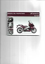 Manual del propietario HONDA NC700D 2011/2012 ENVIO GRATIS EN EL MUNDO