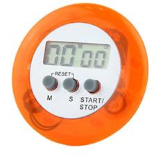 Orange Digital Kitchen Timer Magnetic Clip Chef Restaurant Count Down Stopwatch