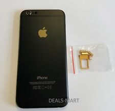 Matte Black-Gold, Replacement Back Metal Housing Battery Case for iPhone 6