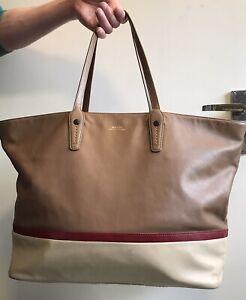 Bally Switzerland VISSI Large Oversized Leather Shopper Tote Bag