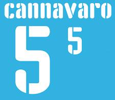 Italy Cannavaro Nameset 2009 Shirt Soccer Number Letter Heat Print Football Home