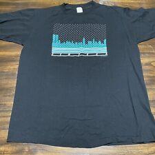 Vintage 80s New York Winter Tourist T Shirt Twin Towers Christmas