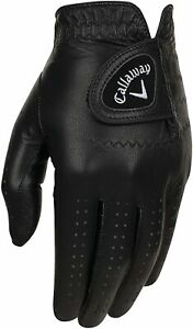 Callaway Golf RH OptiColor Full Leather Glove - COLOR: Black  SIZE: Medium/Large