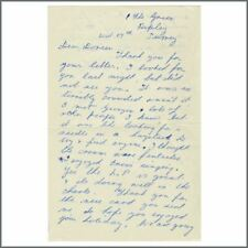 Patricia Clapton (Eric Clapton's Mother) 60s Handwritten Cream Related Letter UK