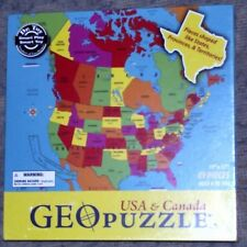 """GEO TOYS PUZZLE 69 PIECES USA & CANADA 17"""" x 17"""" ages 4 to 104 NEW"""