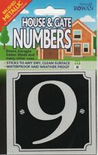 "SIGN SHACK - HOUSE & GATE NUMBERS - ""9"" - SILVER - STICKER      *NEW AND SEALED*"
