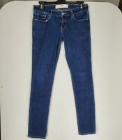 Abercrombie & Fitch Women Skinny Jeans Perfect Stretch 0S Dark Denim Blue Wash