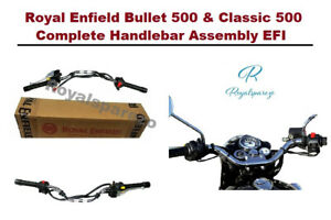 Royal Enfield Bullet 500 & Classic 500 Complete Handlebar Assembly EFI