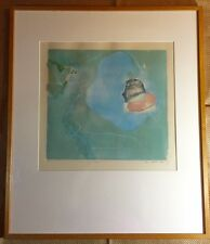 SARA GLATER Abstract Art PRINT e.v EDITION VARIE Refuge 1982 SIGNED Framed RARE!