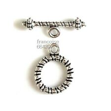 5 Fermoirs Toggle _ ROND 16.5x13mm _ Perles apprêts création  bijoux bracel F035