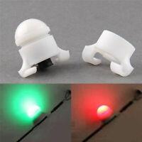 Smart LED Fishing Rod Tip Night Light Bite Strike Alert Glow Stick Alarm Clip