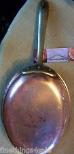 VINTAGE FRENCH STYLE LARGE COPPER AU GRATIN SKILLET PAN - STAINLESS STEEL LINED