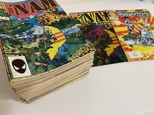 Nam #1-84 near complete lot run + Savage Tales #1 + Nam Magazine 1 all VFNM 1985