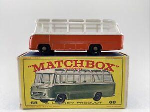 1960s Matchbox Lesney No. 68 MERCEDES COACH w Original Box super RARE bus