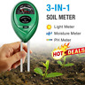 3 in1 Soil PH Tester Water Moisture Light Test Meter Kit For Garden Plant