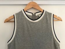 COUNTRY ROAD TENNIS STYLE GREY KNIT MIDI DRESS SIZE XS HIGH LOW