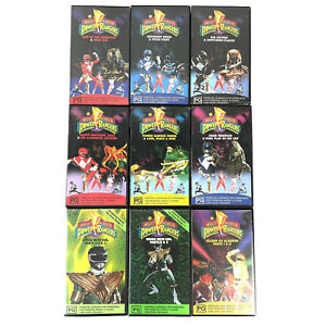 Lot of 9 x Power Rangers Mighty Morph'n VHS Video Tapes Vol 1,3,4,6,7,8,9,10,14