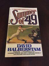 Summer Of '49 By David Haberstam First Printing 1990 Avon Books Paperback