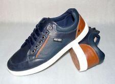 Norway Originals Leder Herren Schuhe Freizeit Sport Sneaker 41 US8 Navy Brown Wh