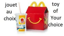mc do Happy Meal Mc Donald mc donald's jouet aux choix choice you toys
