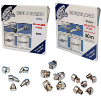 Jubilee® Multiband 11mm 304 Grade Stainless Steel Band Clip Clamp and Screws