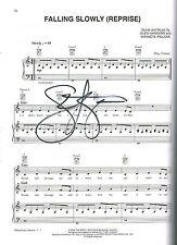 """Once Tony Winner Steve Kazee SIGNED """"Falling Slowly"""" Music Sheet COA"""