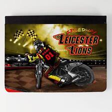 Leicester Leones Speedway iPad Funda piel cubierta de la tableta personalizada SW26