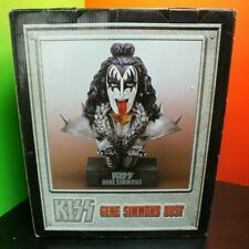 KISS GENE SIMMONS 1999 SPENCER'S LARGE CERAMIC STATUE BUST WITH BOX AND COA