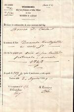 TESORERIA SACRA RELIGIONE e ORDINE MILITARE SANTI MAURIZIO E LAZZARO 1849 C9-153