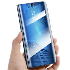 Smart Flip Leather Case for Samsung Galaxy S9 Clear View Mirror Stand Cover Blue